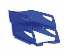 Maxi corbeille à courrier Happy bleu électrique, dimensions : L25 x H10,1 x P34 cm