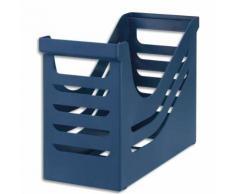Bac de classement en polystyrène pour dossiers suspendus. Capacité 15 dossiers. Coloris bleu. - Lot de 2