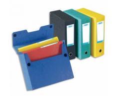 Boîte de classement EUROFOLIO carte lustrée, dos 9 cm, fermeture velcro, 24x32 cm, coloris assortis - Lot de 5