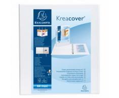 Classeur PP personnalisable Kreacover - 4 anneaux en D 50mm - A4 maxi. - Rouge - Lot de 10