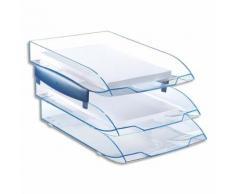 Jeu de 2 réhausses pour corbeille à courrier ICE BLUE