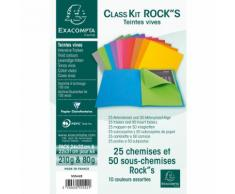 Kit de classement class'kit 25 chemise ROCK''S 210 + 50 sous-chemises ROCK''S 80. - Lot de 10