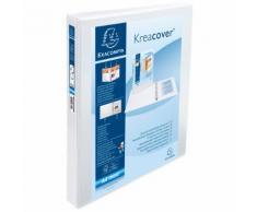 Classeur PP personnalisable Kreacover - 4 anneaux en D 30mm - A4 maxi. - Bleu - Lot de 10
