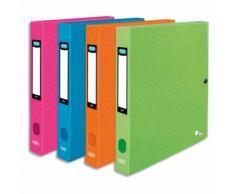Boîte de classement ART POP 24x32cm PP 7/10e coloris assortis, dos 6cm, capacité 450 feuilles - Lot de 10