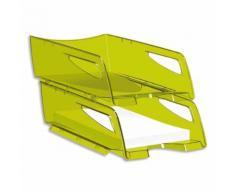 Corbeille à courrier maxi Happy vert bambou 25x10,1x34 cm