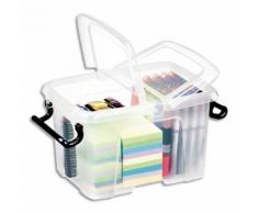Boîte de rangement Smart Box Strata avec couvercle clipsé dims int.15,7x22,1x15,5cm transparent 6L