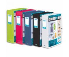 Boîte de classement personnalisable POLYVISION, format 24x32cm, dos 8cm coloris assortis opaque - Lot de 8