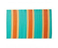 Tapis d'extérieur rayé - multicolore