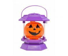 Décoration Halloween violet-orange 11,5x10x17,5cm Taille Unique