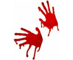 Décoration mains ensanglantés Halloween TAILLE UNIQUE