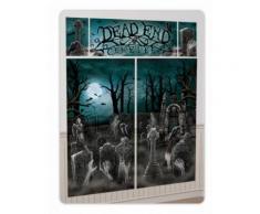 Kit de décoration murale 5 pièces Halloween hanté Taille unique