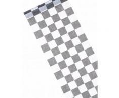 Chemin de table intissé damier 5 m Taille Unique