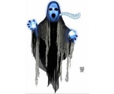 Décoration faucheuse lumineuse et sonore 153 cm Halloween Taille Unique