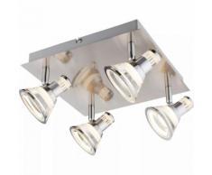 GLOBO Projecteur LED TAKIRO Nickel et Acrylique 56956-4