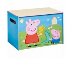 Peppa Pig Coffre à jouets 60x40x40 cm Bleu Bois WORL213011