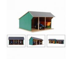 Kids Globe Hangar de ferme pour tracteurs jouet Petit 1:32 Bois 610192