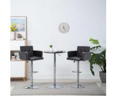vidaXL Chaise de bar pivotante 2 pcs Similicuir 61 x 54 x 112 cm Noir