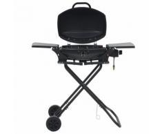 vidaXL Barbecue au gaz portatif avec zone de cuisson Noir