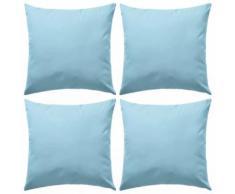 vidaXL Oreiller d'extérieur 4 pcs 45 x 45 cm Bleu clair