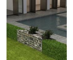 vidaXL Panier gabion/ Jardinière/ Parterre surélevé Acier 150x30x50 cm