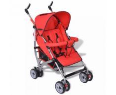 vidaXL Poussette de voyage pour bébés 5 positions Rouge