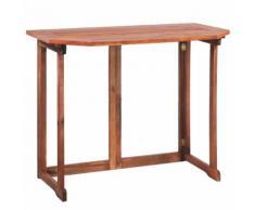 vidaXL Table de balcon Bois d'acacia massif 90 x 50 x 75 cm