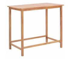 vidaXL Table de bar d'extérieur 120x65x110 cm Teck solide
