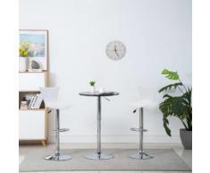 vidaXL Chaise de bar pivotante 2 pcs Similicuir 40x47x105 cm Blanc