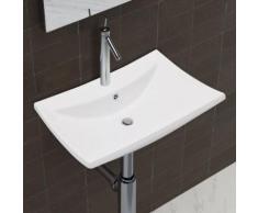 vidaXL Luxueuse vasque céramique rectangulaire avec trop plein