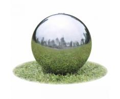 vidaXL Fontaine de jardin sphère avec LED en acier inoxydable 20 cm