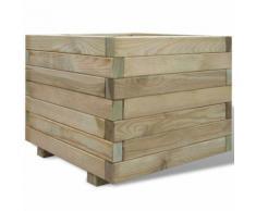 vidaXL Jardinière carrée en bois 50 x 50 x 40 cm