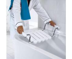 RIDDER Siège de baignoire avec cadre poli Blanc A0040011