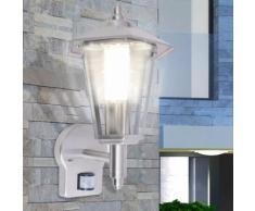vidaXL Lampe murale extérieure avec capteur Acier inoxydable