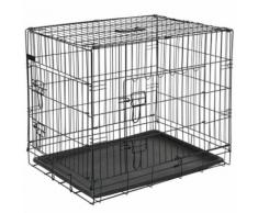 @Pet Cage pour chien 92,5x57,5x64 cm Métal Noir 15003