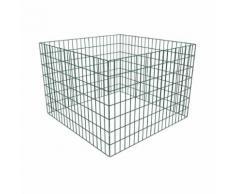vidaXL Composteur de jardin carré en maille 100 x 100 x 70 cm