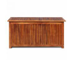 vidaXL Boîte de rangement d'extérieur Bois d'acacia solide 117x50x58cm