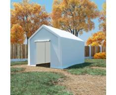 vidaXL Tente de rangement PE 3 x 4 m Blanc
