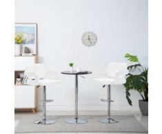 vidaXL Chaise de bar pivotante 2 pcs Similicuir 54 x 58 x 115 cm Blanc