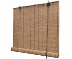 vidaXL Store roulant Bambou Marron 140 x 160 cm