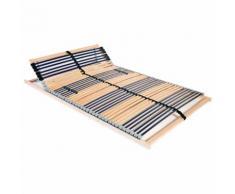 vidaXL Base de lit à lattes avec 42 lattes 7 zones 140 x 200 cm FSC