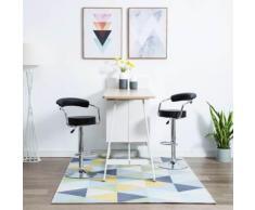 vidaXL Chaise de bar pivotante 2 pcs Simili-cuir 52x51x106 cm Noir