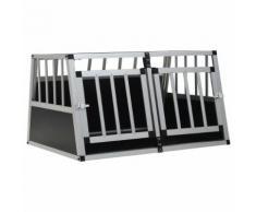vidaXL Cage pour chien à double porte 89 x 69 x 50 cm