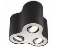 Philips myLiving Plafonnier Pillar 3 x 50 W Noir 5633330PN