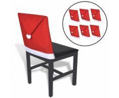 vidaXL 6 Housses pour chaises en forme de père noël