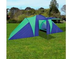 vidaXL Tente de camping imperméable 6 Personnes Bleu marin/vert