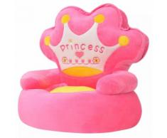 vidaXL Chaise en peluche pour enfants Princesse Rose