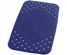 RIDDER Tapis de bain antidérapant Plattfuß 72 x 38 cm Bleu 67063
