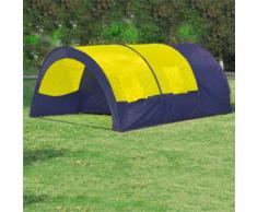 vidaXL Tente dôme familiale 6 places bleue et jaune