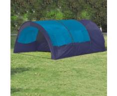 vidaXL Tente de camping 6 personnes Bleu foncé et Bleu