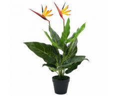 vidaXL Plante artificielle Strelitzia Reginae Oiseau de Paradis 66 cm